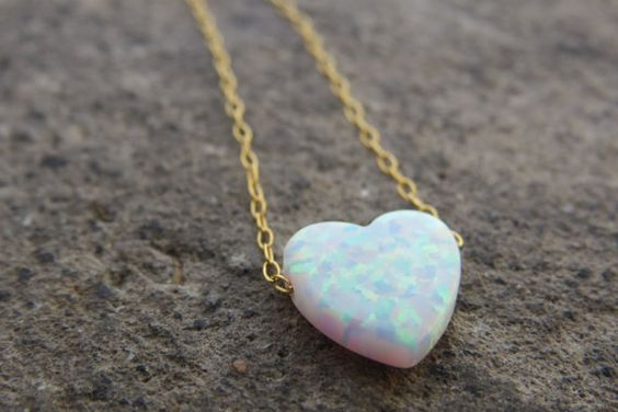 Opal Heart Necklace